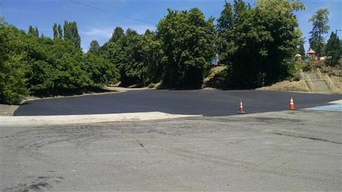Another view of elementary parking lot complete